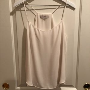 Off-White / Cream Camisole with Racerback Shell